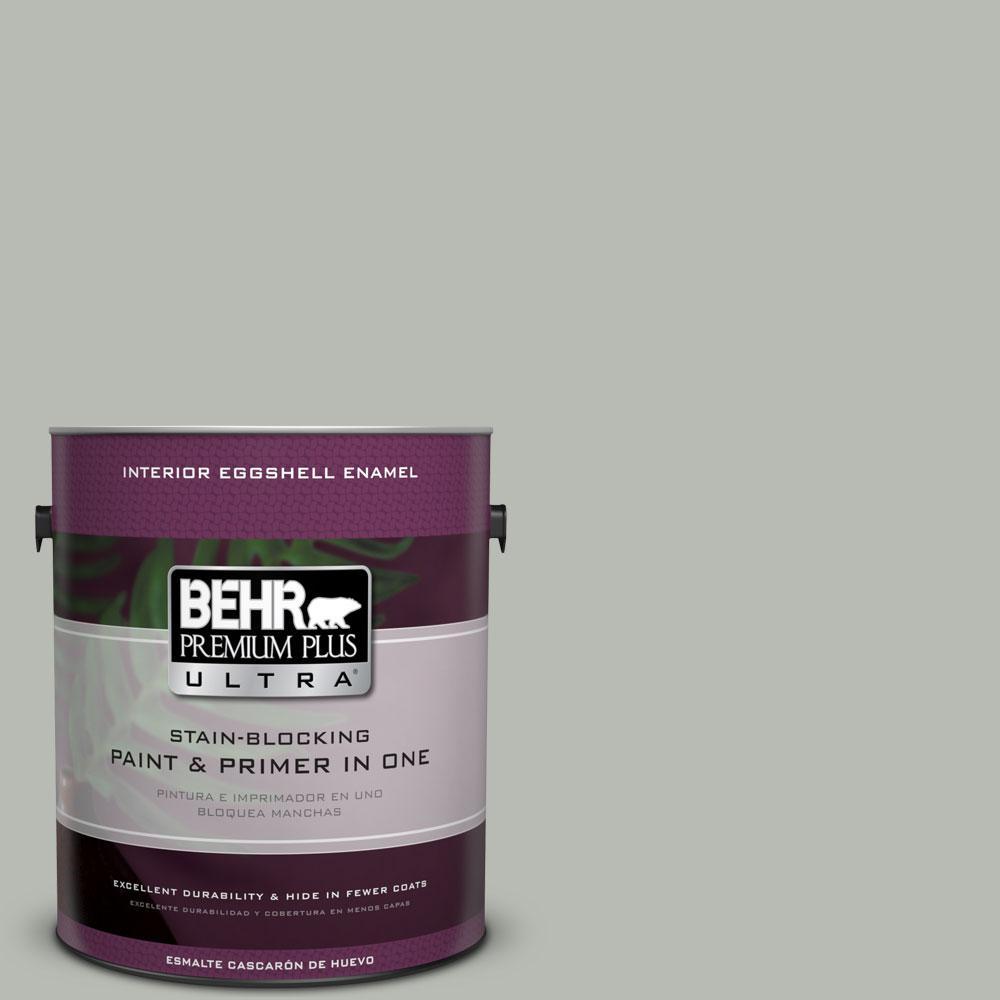 BEHR Premium Plus Ultra Home Decorators Collection 1-gal. #HDC-AC-21 Keystone Gray Eggshell Enamel Interior Paint