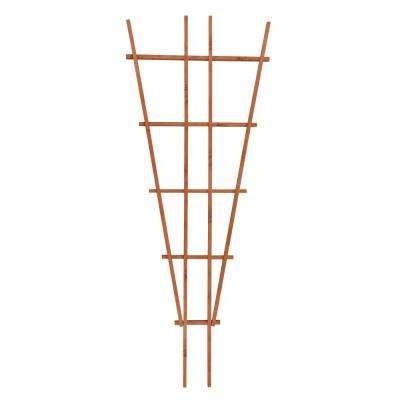 72 in. Wood Fan Trellis