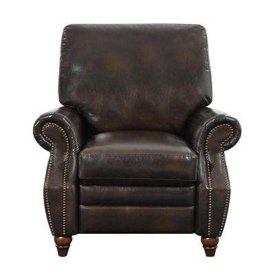 Harris Antique Brown Nailhead Recliner