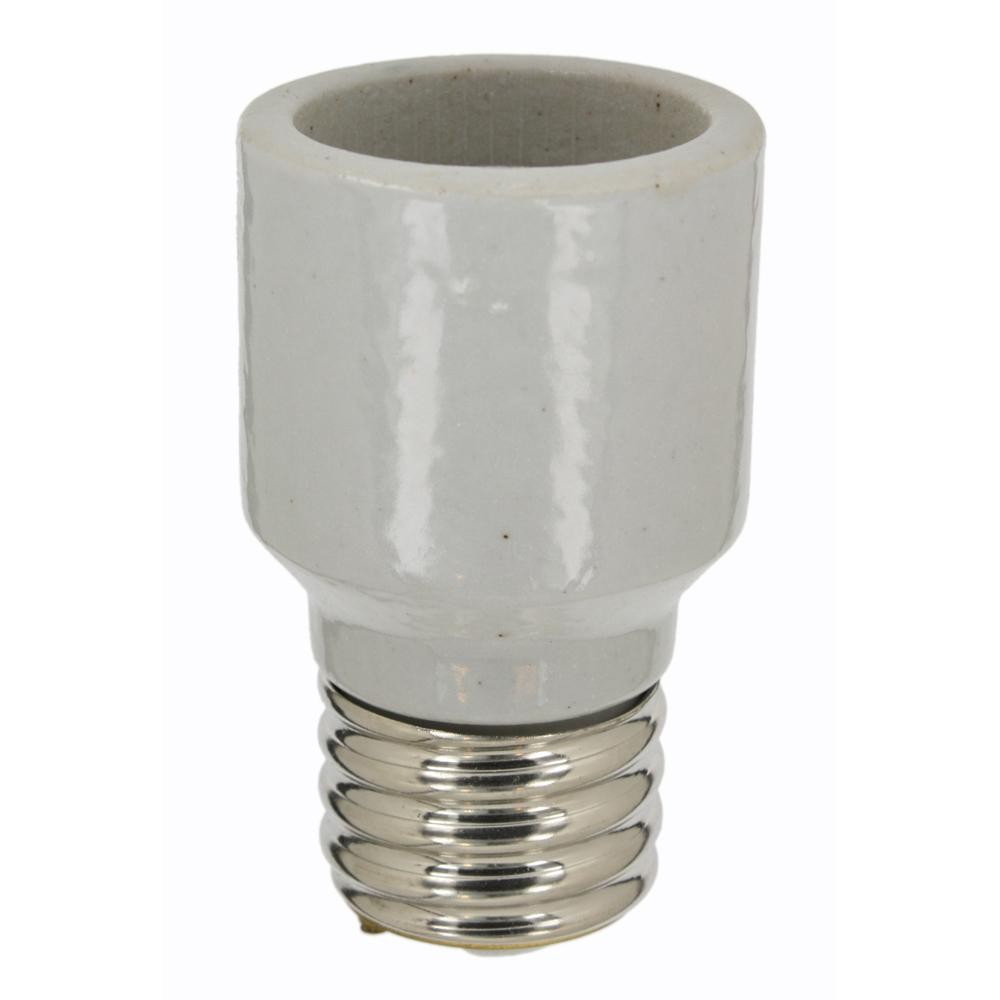 shop white medium com light watt socket adapter at halo pd lowes lighting