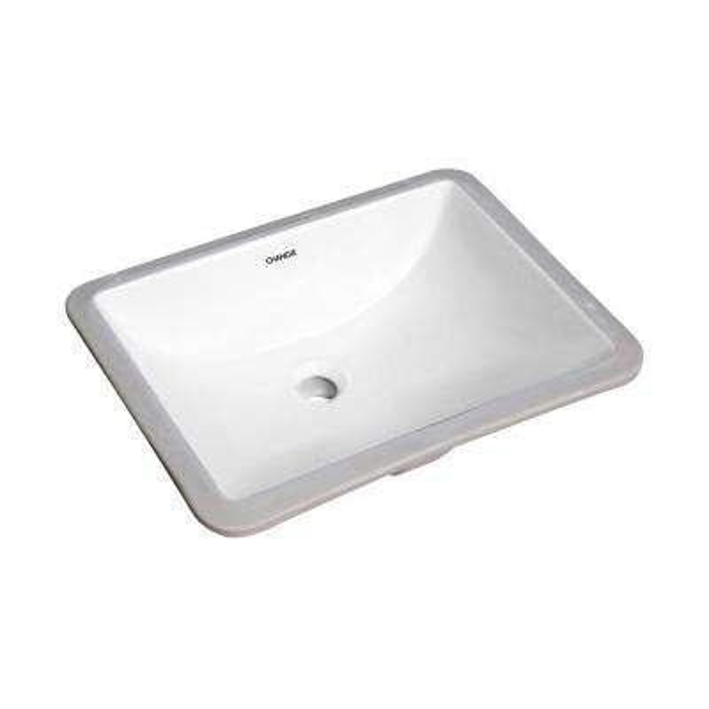 18 in. x 13 in. Rectangular Lavatory Undercounter Bathroom Ceramic Sink 1633W in White