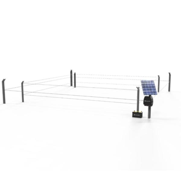 47 in. H 1/2 Acre Polywire and Fiberglass Hot Zone Electric Garden Protection Fence