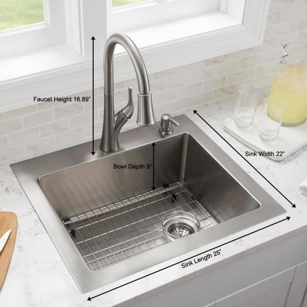 Top Mount 33 in 18-Gauge Stainless Steel Double Bowl Tiny Radius Kitchen Sink