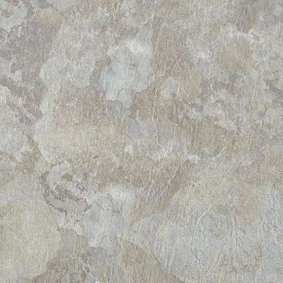 Majestic Light Gray Slate 18 in. x 18 in. Vinyl Floor Tiles (22.5 sq. ft./case)