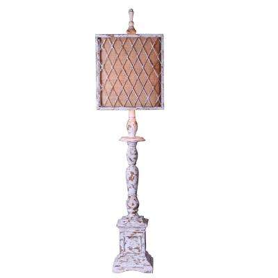 40 in. White Table Lamp