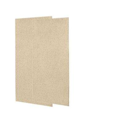 36 in. x 96 in. 2-piece Easy Up Adhesive Alcove Shower Wall Panel in Bermuda Sand