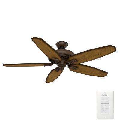 Fellini 60 in. Indoor Provence Crackle Bronze Ceiling Fan with Remote
