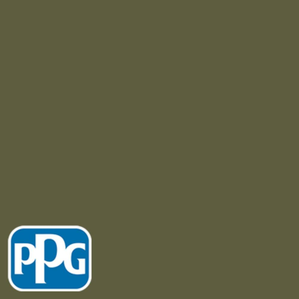 PPG TIMELESS 8 oz. #HDPPGG26 Olive Green Satin Interior/Exterior Paint Sample
