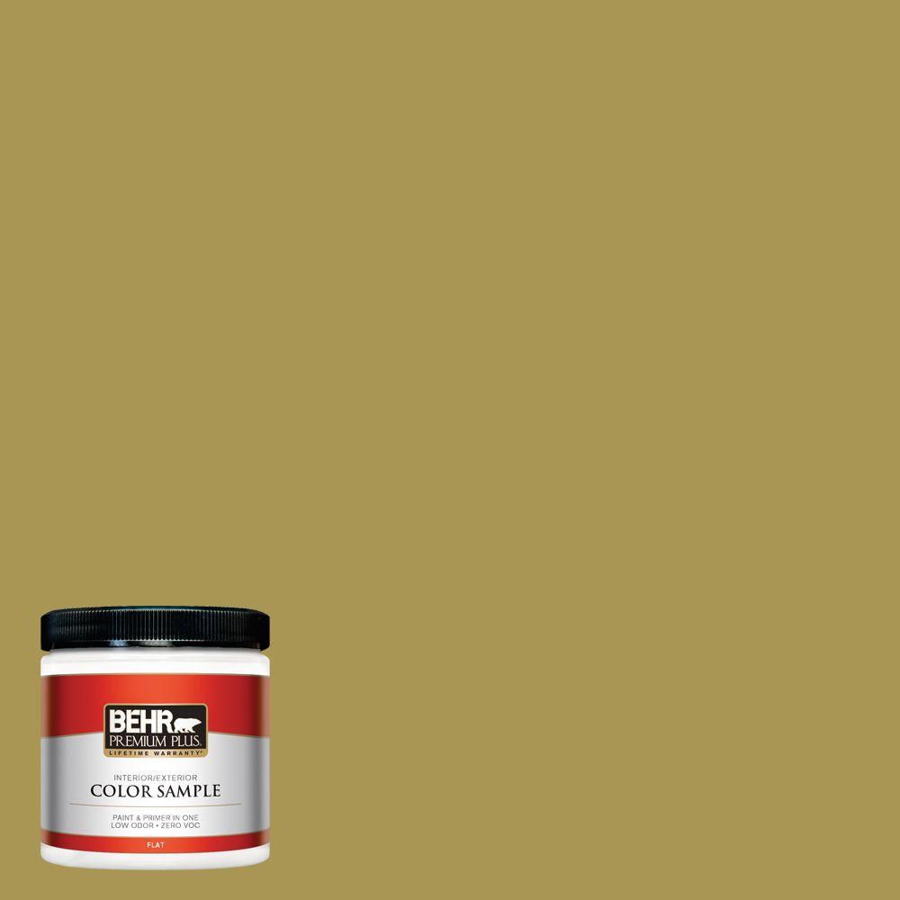 BEHR Premium Plus 8 oz. #390D-6 Spring Moss Interior/Exterior Paint Sample