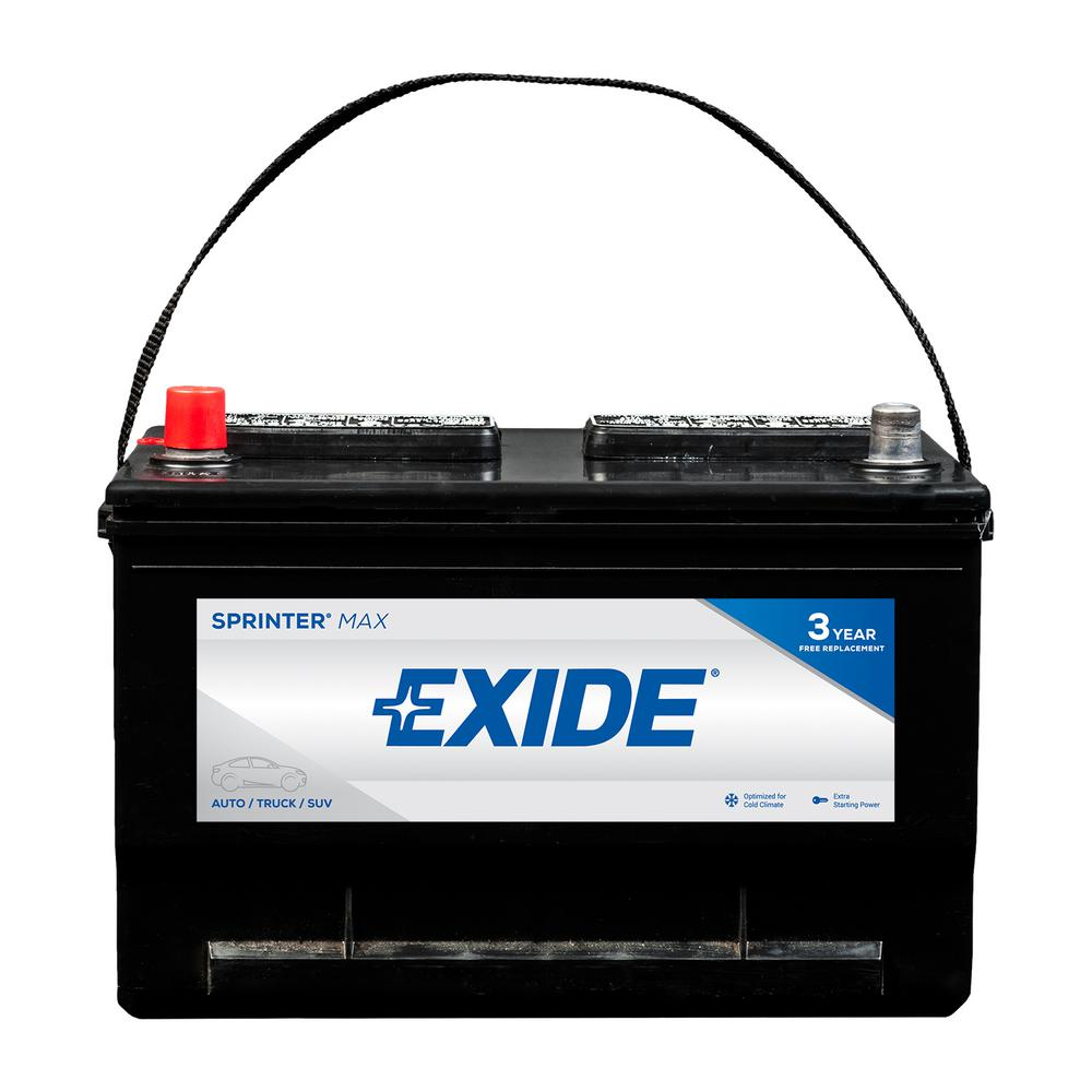 Exide Car Battery >> Exide Sprinter Max 12 Volts Lead Acid 6 Cell 65 Group Size 850 Cold Cranking Amps Bci Auto Battery