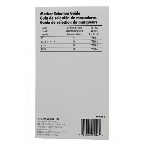 450 Piece Vinyl Adhesive Labeling Wire Marker Book 1-45 10 Each