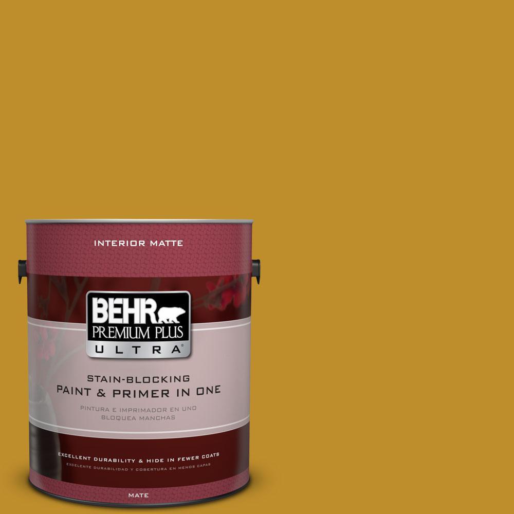 1 gal. #360D-7 Brown Mustard Flat/Matte Interior Paint