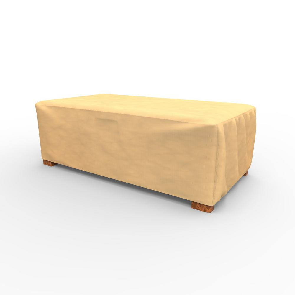Budge All Seasons Medium Patio Ottoman Coffee Table Covers P5a35sf1 The Home Depot