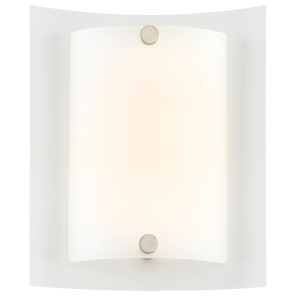 12-Watt Brushed Nickel Integrated LED Sconce