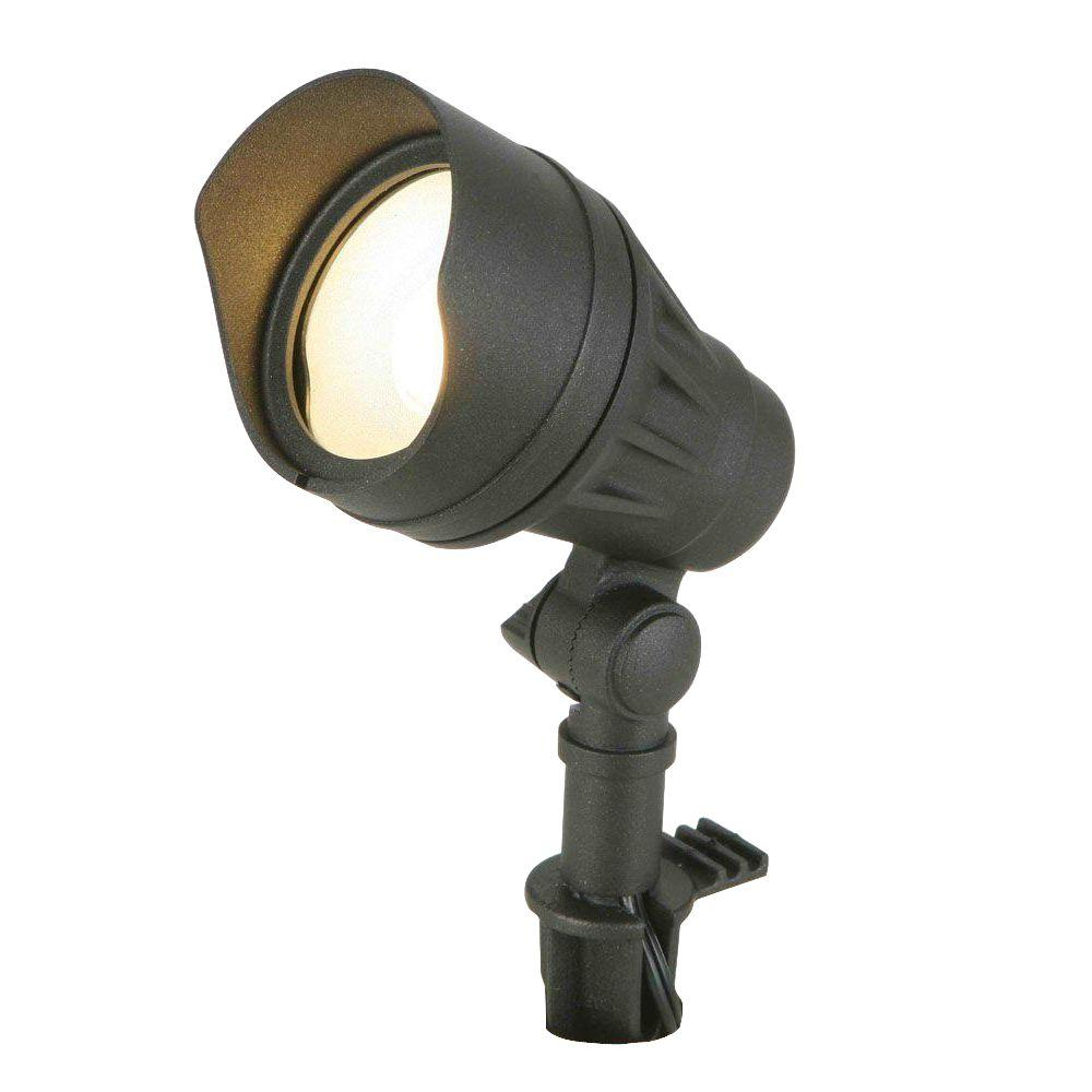 Low voltage landscape lighting outdoor lighting the home depot low voltage 50 watt equivalent black outdoor integrated led landscape flood light aloadofball Image collections