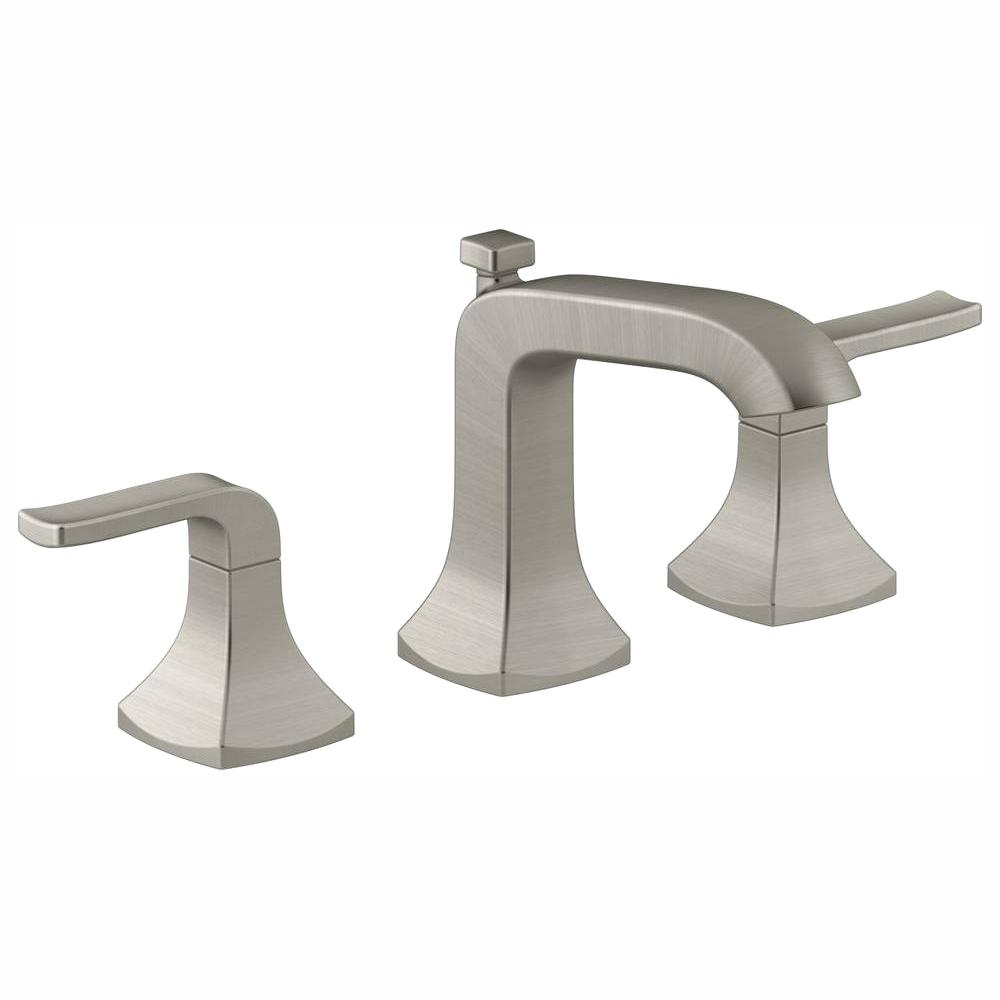 KOHLER Rubicon 8 in. Widespread 2-Handle Bathroom Faucet in Vibrant Brushed  Nickel