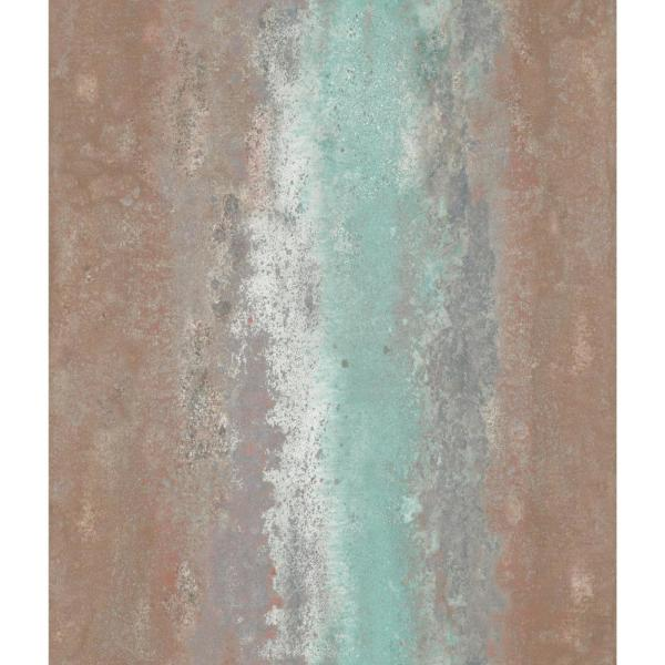 RoomMates 28.18 sq. ft. Oxidized Metal Peel and Stick Wallpaper RMK11379WP