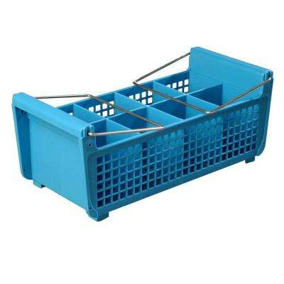17.06 x 7.75 in. Flatware Basket for Dishwashing with handles in Blue (Case of 6)