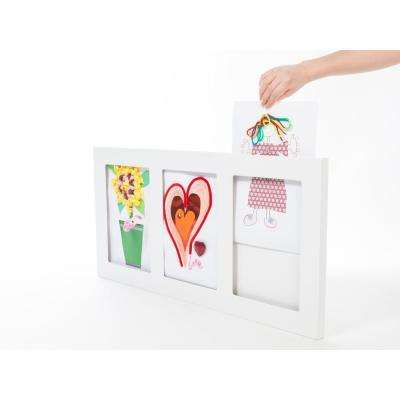 Triple Gallery Picture Frame, 9 by 12-Inch. White