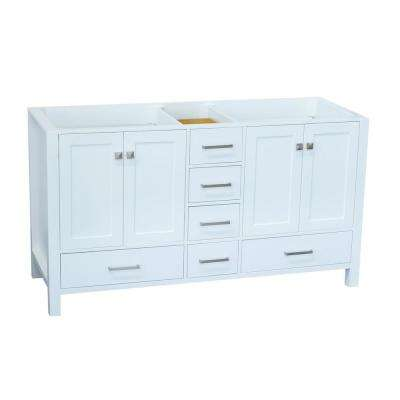 Cambridge 60 in. W Vanity Cabinet Only in White
