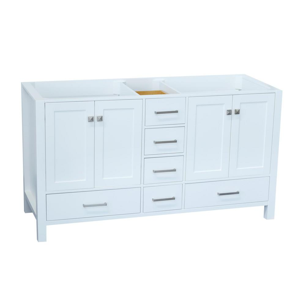Ariel Cambridge 60 In. W Vanity Cabinet Only In White