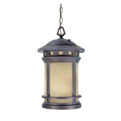 Mesa Collection 3-Light Mediterranean Patina Outdoor Hanging Lantern
