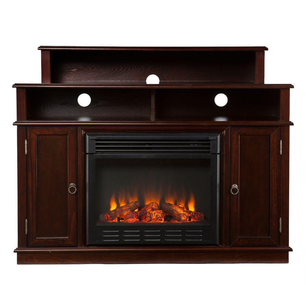 Southern Enterprises Daniel 48 in. Media Console Electric Fireplace in Espresso