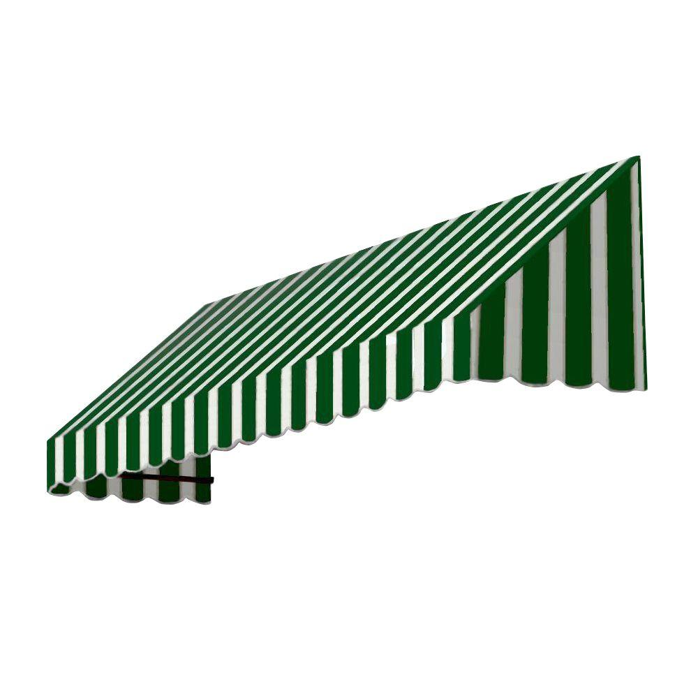 AWNTECH 35 ft. San Francisco Window/Entry Awning (44 in. H x 48 in. D) in Forest/White Stripe