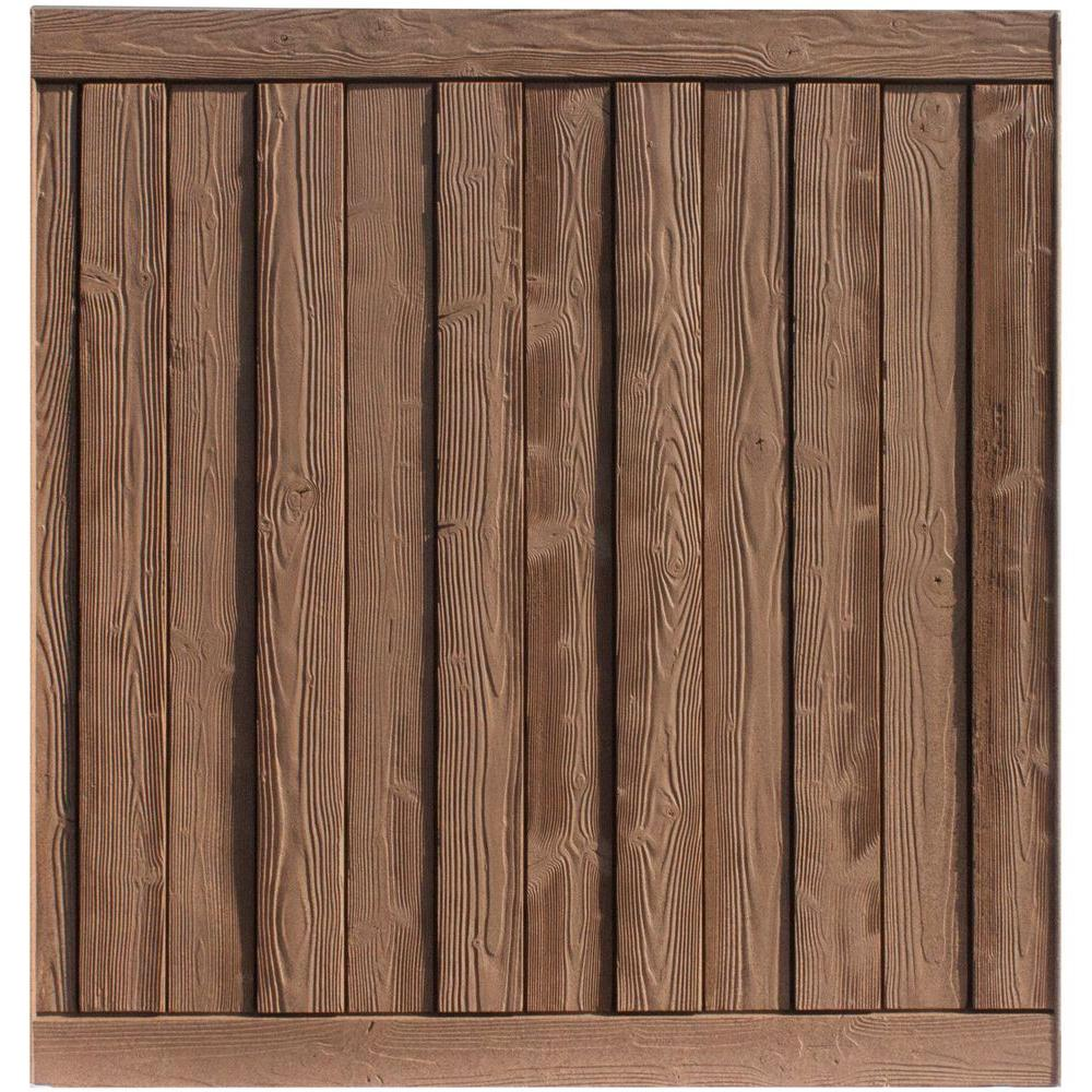 Ashland 6 ft. H x 6 ft. W Red Cedar Composite