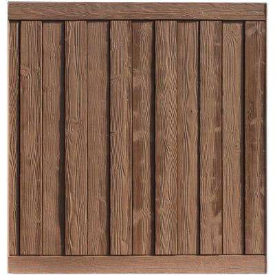 Ashland 6 ft. H x 6 ft. W Red Cedar Composite Fence Panel