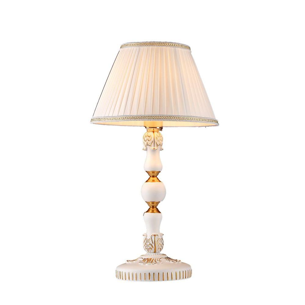 Etonnant White Indoor Victorian Table Lamp With White Fabric Shade