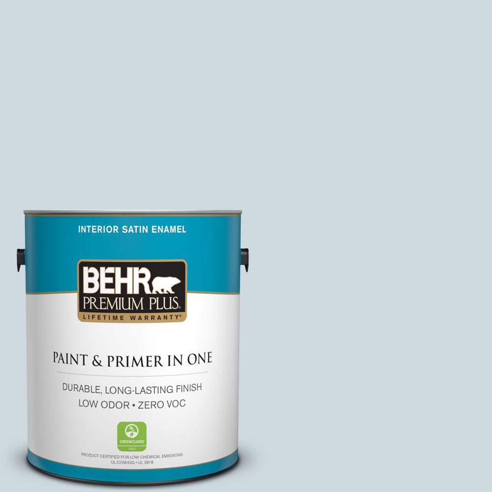 BEHR Premium Plus 1 gal. #560E-2 Cumberland Fog Satin Enamel Zero VOC Interior Paint and Primer in One