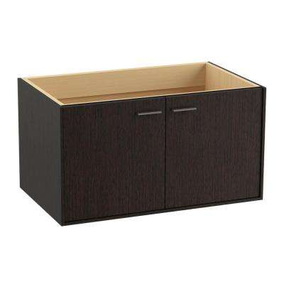 Jute 36 in. Vanity Cabinet in Satin Oak