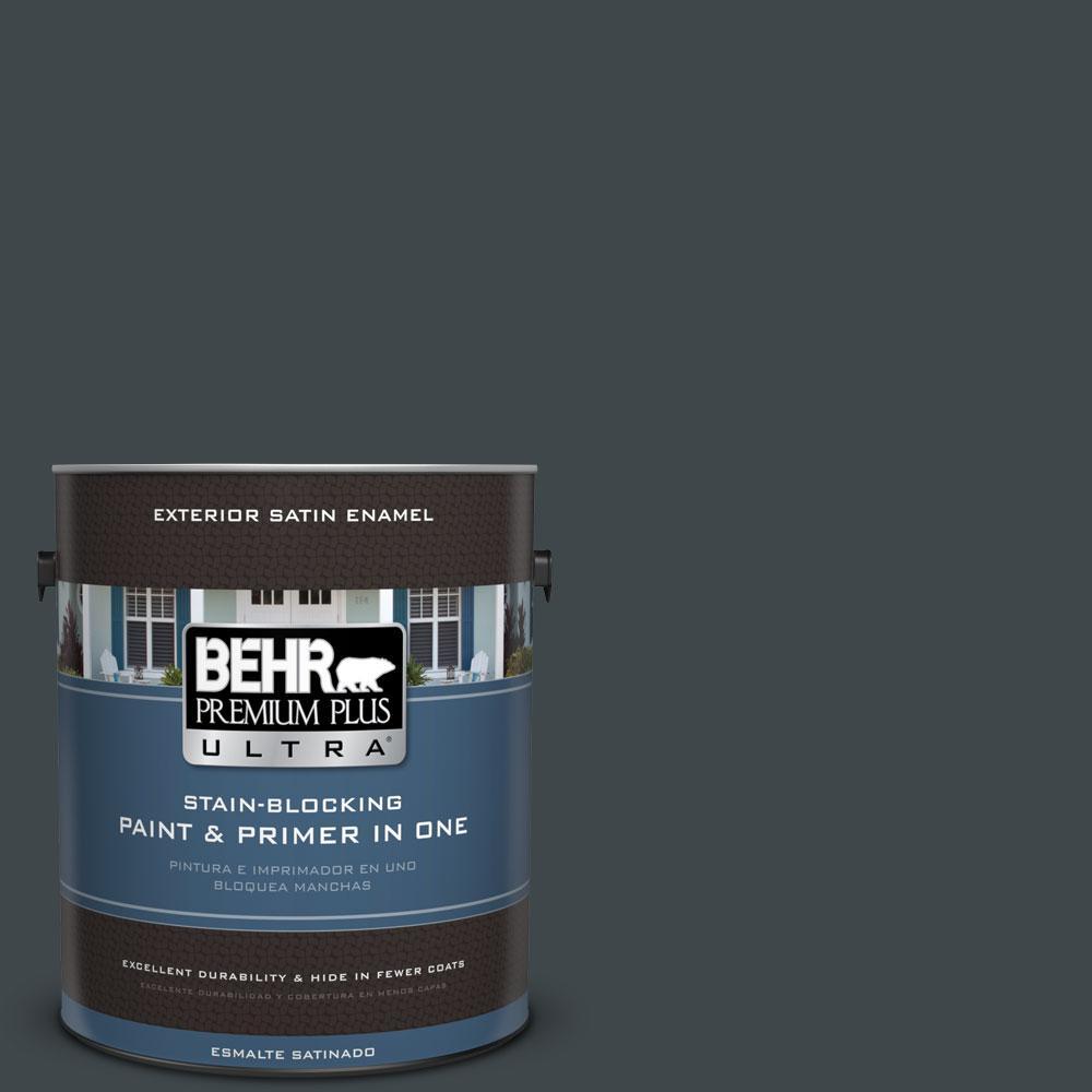BEHR Premium Plus Ultra 1-gal. #730F-7 Black Sable Satin Enamel Exterior Paint