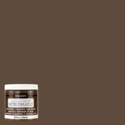 8 oz. Rich Chestnut Satin Enamel Paint