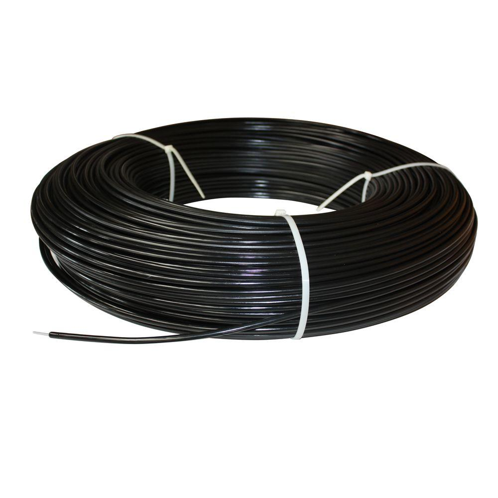 White Lightning 1320 ft. 12.5-Gauge Black Safety Coated High Tensile ...