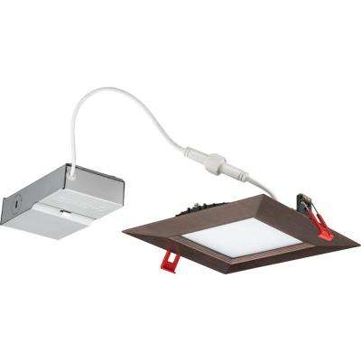 Wafer Square 6 in. Oil-Rubbed Bronze Integrated LED Recessed Kit