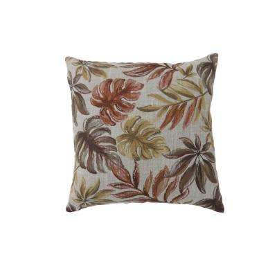 Dora 18 in. Contemporary Throw Pillow in Red (Pack of 2)