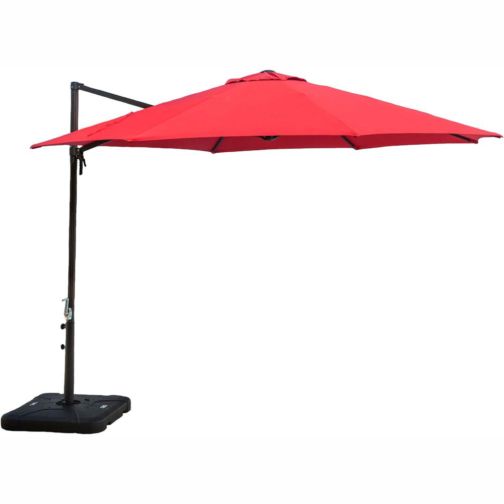 Cambridge Cantilever 11 ft Patio Umbrella in Red