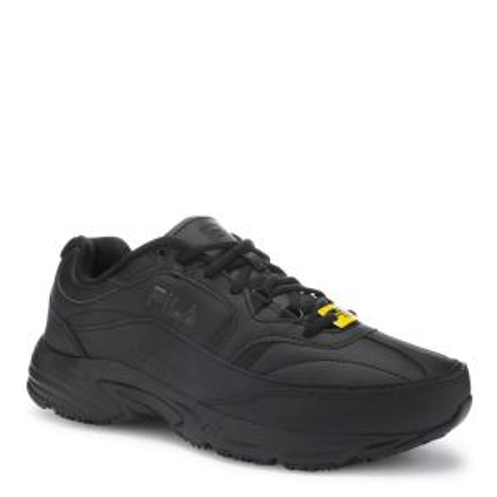 fbd2391bcda3 Memory Workshift Men Size 11 Wide Black Leather Synthetic Composite Toe  Work Shoe. Fila ...