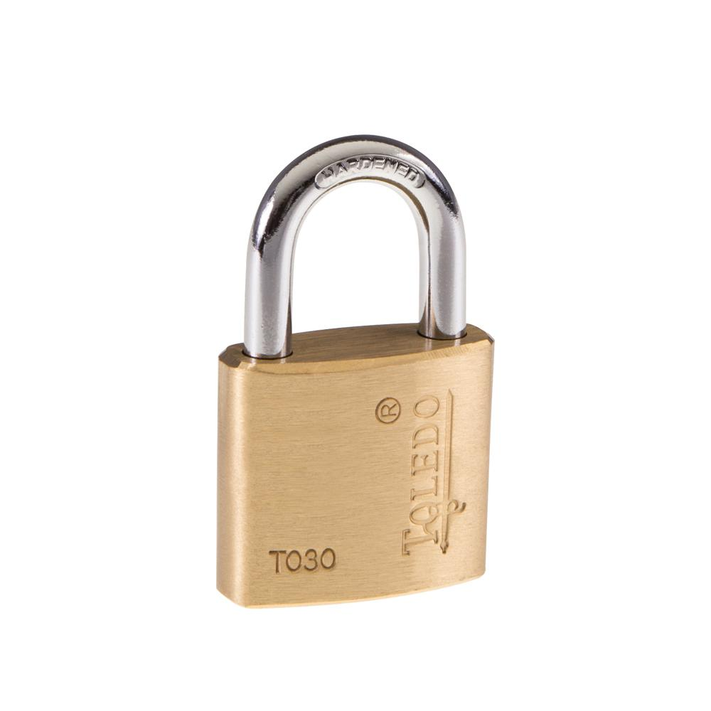 Toledo Fine Locks 30 mm Brass Keyed Padlock