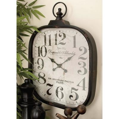 """26 in. x 18 in. """"Dupont & Allardet"""" Rounded Square Wall Clock"""