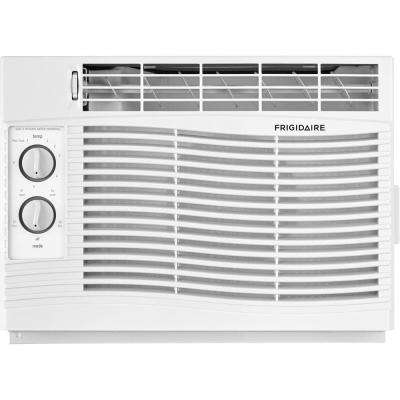 5,000 BTU 115-Volt Window-Mounted Mini-Compact Air Conditioner with Mechanical Controls in White
