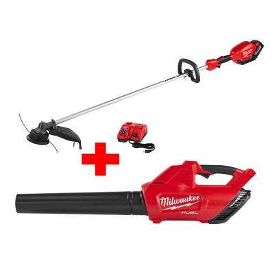 M18 FUEL 18-Volt Lithium-Ion Brushless Cordless String Trimmer Kit with  M18 FUEL Blower (Bare Tool)