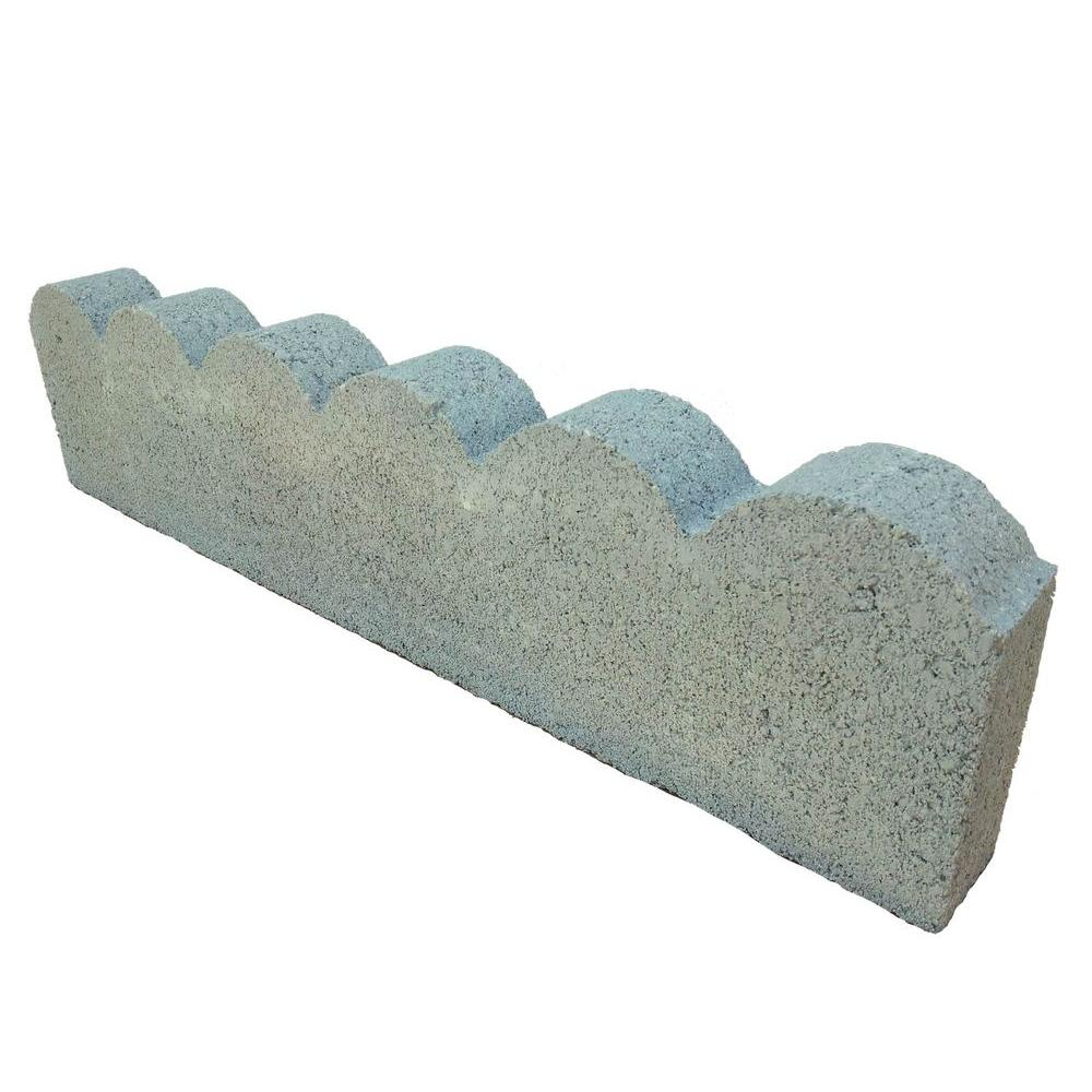 Scallop 2 Ft Concrete Edging 908456 The Home Depot