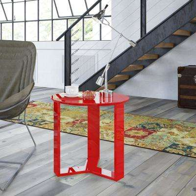Madison 2.0 Red Gloss End Table