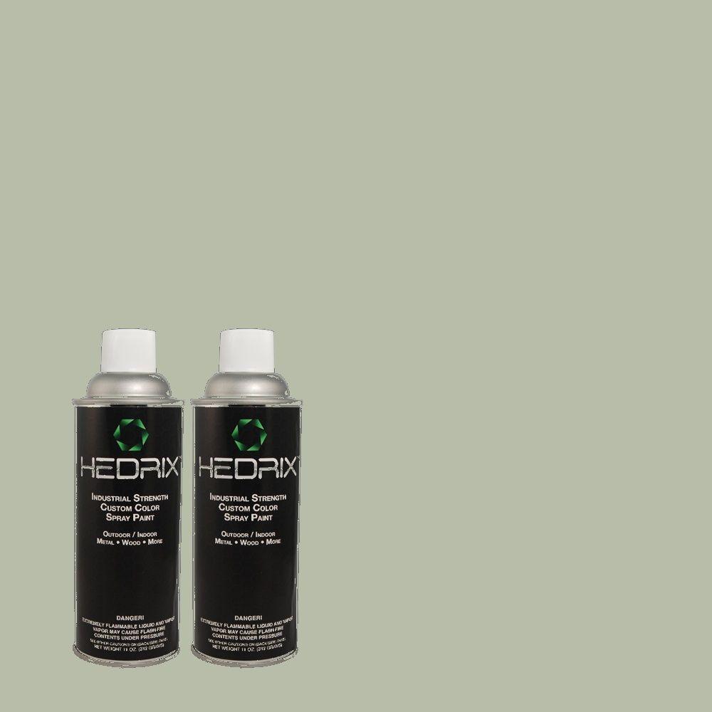 Hedrix 11 oz. Match of PPU11-14 Zen Flat Custom Spray Paint (2-Pack)