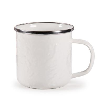 Solid White 12 oz. Enamelware Coffee Mug