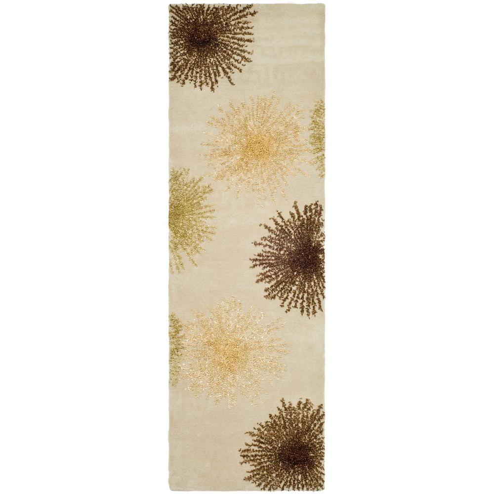 Safavieh Soho Beige Wool 2 ft. 6 in. x 8 ft. Rug Runner