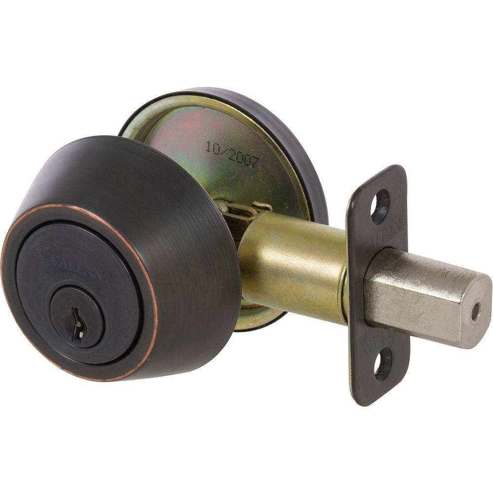 Callan Single Cylinder Edged Oil Rubbed Bronze Deadbolt